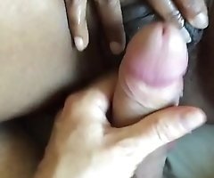 Rubbing your cock on my wet clit to orgasm