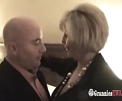 Curvy Busty Granny And Her GILF Friend In Threesome