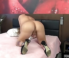 Sexy Tgirl Sa Fontenelle Stuffs a Dildo Up Her Ass and Jacks Off
