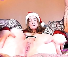 TWO Toys at ONCE REDHEAD Christmas FUCK Take 1