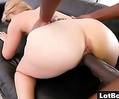 Fat ass blonde busty MILF Alix Lovell gets huge black dick