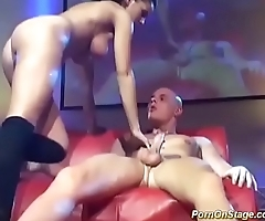 busty babe big cock fucked on public stage