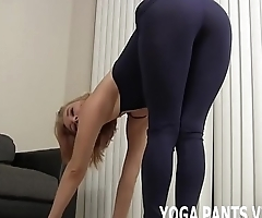 I feel so sexy in my tight black yoga pants JOI