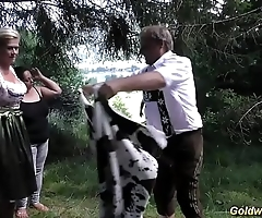 wild german outdoor fuck orgy
