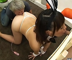 Asian pet girl is caged and forced to suck cocks