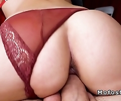 Slim amateur with hot ass fucks in public