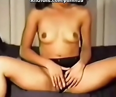 Teen girl dancing and masturbating with dildo