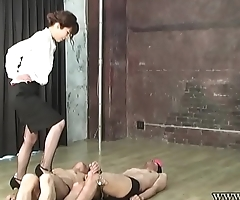 Japanese Femdom Asami Savage High Heels Boots Trample