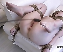 Tied up pale babe banged and whipped
