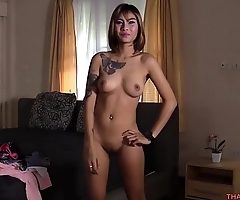 Guy fucks his young horny Asian girlfriend on the bed