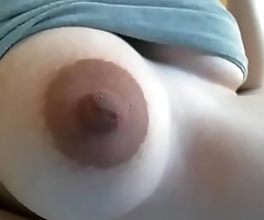 Pregnant showing nice tits