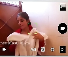 Beautiful Indian Girl nude bath recorded in hidden camera
