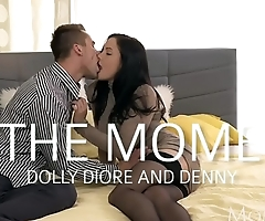 MOM Doggystyle creampie for sexy milf in stockings and high heels