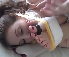 Whitney Morgan &amp_ Shauna Ryanne are gagged and feet tied to face.WMV
