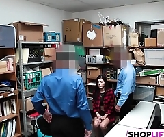 Teen Shoplifter Is In A Tight Corner
