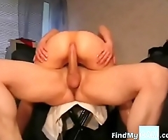 Oiled up anal humping on cam